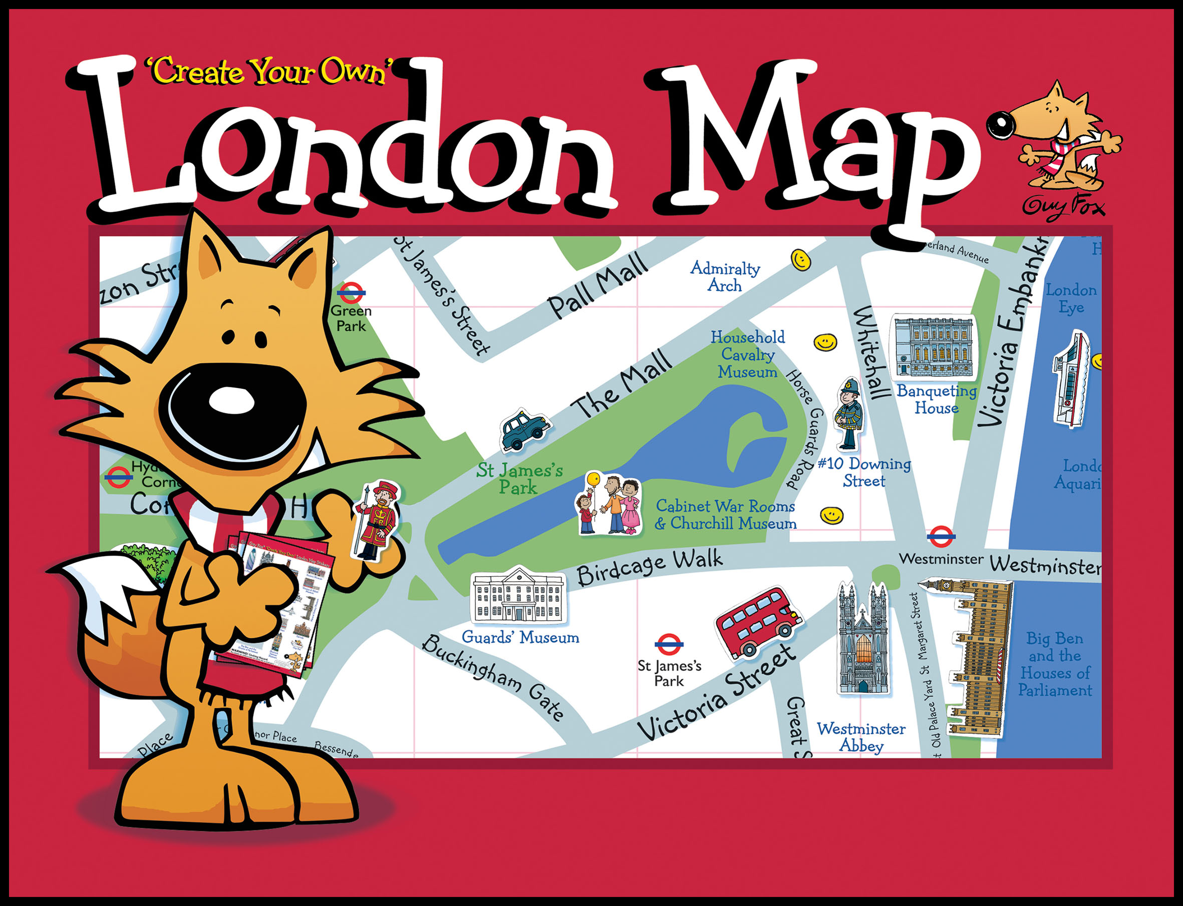 Create Your Own London Map Cover