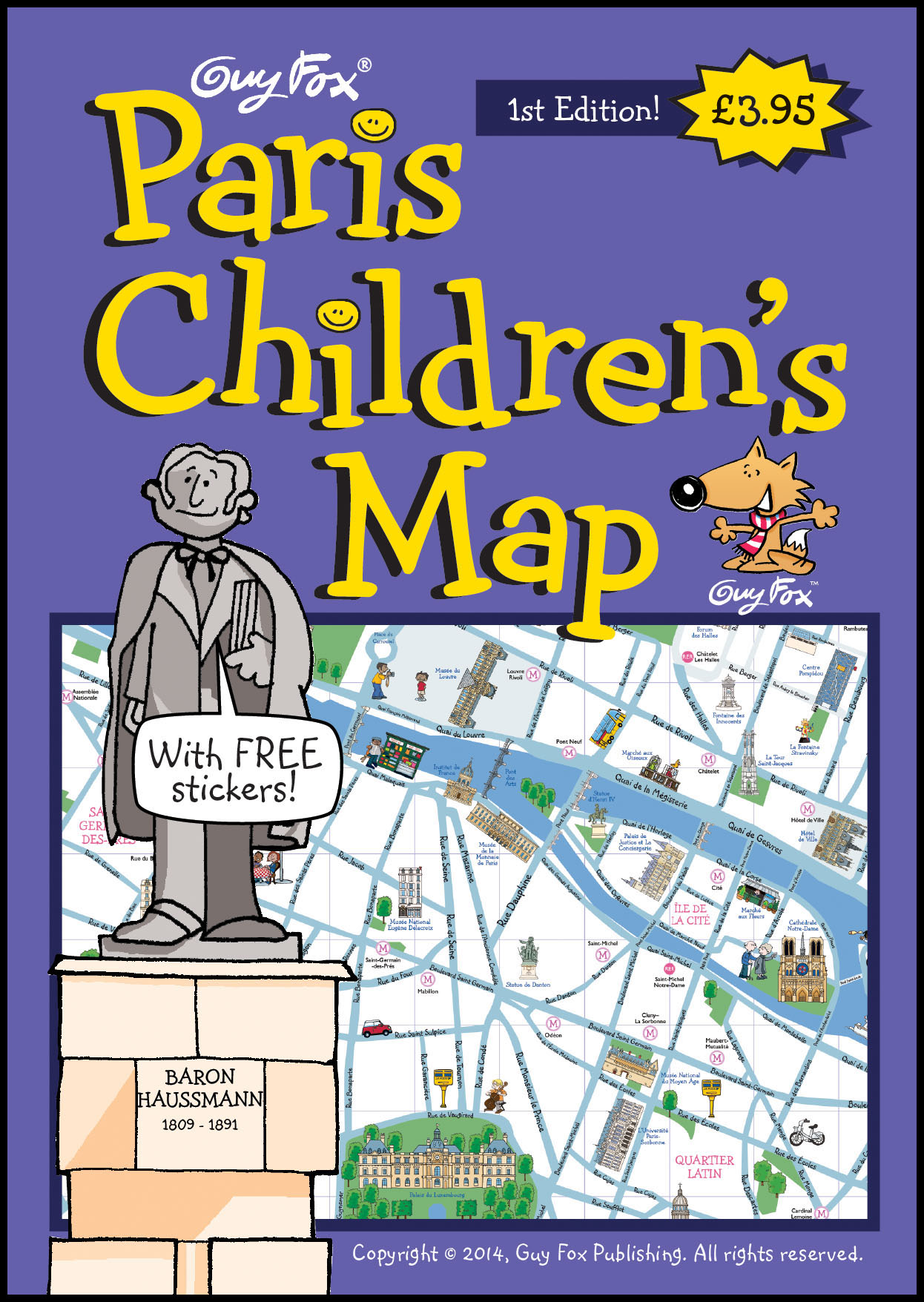 Paris Children's Map Cover