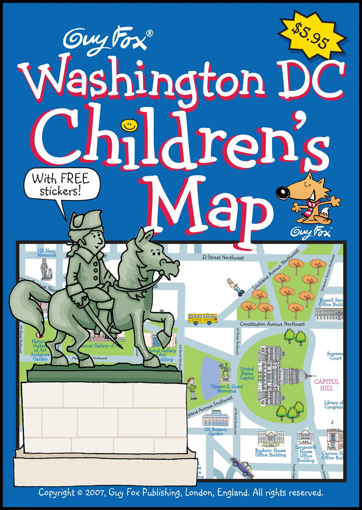 Washington DC Children's Map Cover