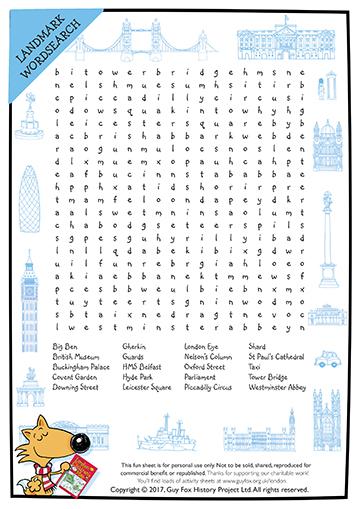 Puzzle: London Wordsearch