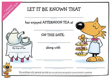 Certificate: Afternoon Tea
