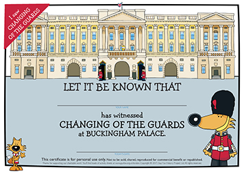 Certificate: Changing of the Guards