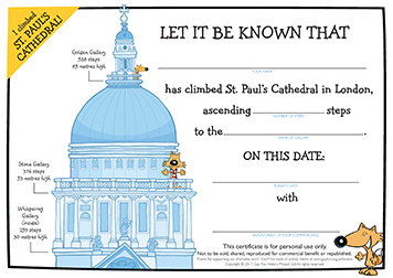 Certificate: Climbing St Paul's Cathedral