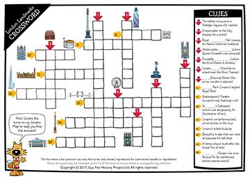 London Landmarks Crossword Puzzle