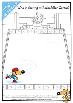 Who is skating at Rockefeller Centre?