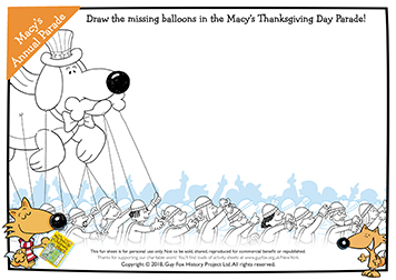 Draw Your Entry for the Macy's Parade