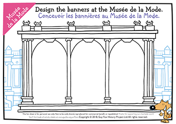 What's on the Banners at the Musee de la Mode?