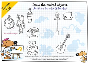 Draw like Salvador Dali