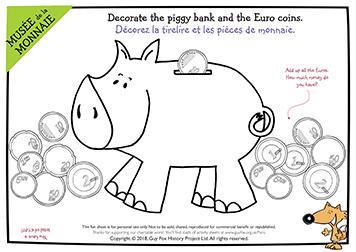 Decorate a Euro Piggy Bank