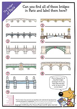 Identify the Bridges of Paris